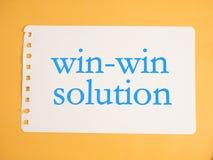 Win-Win Concept van Oplossingswoorden royalty-vrije stock afbeelding