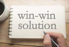 Win-Win Concept van Oplossingswoorden stock afbeeldingen