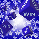 Win Dice Background Showing Championship Royalty Free Stock Photography