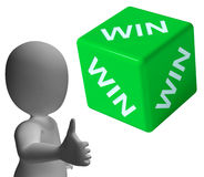 Win Dice Showing Success Winner And Champion Stock Photography
