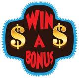 Win een illustratie van de Bonusvertoning stock fotografie