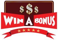 Win een illustratie van de Bonusvertoning stock afbeelding