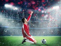 Win a football game Stock Photo