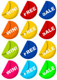Win, Free, and Sale Royalty Free Stock Photo