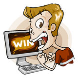 Win in Game. Cartoon Series Royalty Free Stock Photo