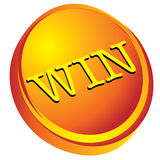 Win on gold 3d design Royalty Free Stock Photography