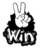 Win hand draw Royalty Free Stock Photos