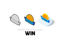 Win icon in different style Stock Image