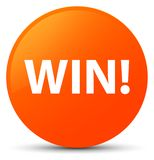 Win orange round button Royalty Free Stock Images