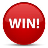 Win special red round button Stock Photo