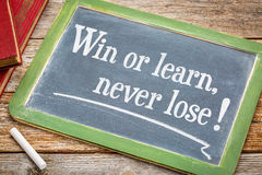 Win or learn, never loose! Stock Images