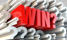 Win or lose?. Question either winning is possible or not Stock Photo