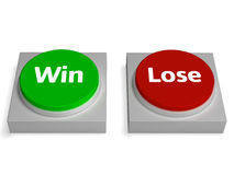 Win Lose Buttons Show Winning Or Losing Royalty Free Stock Images