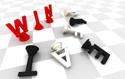 Win Lose Chess Game Royalty Free Stock Images