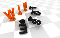 Win Lose Chess Game Royalty Free Stock Image