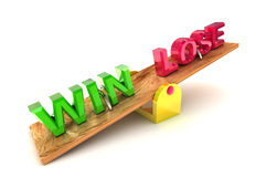 Win / Lose Concept Illustration Royalty Free Stock Photography
