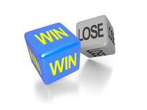 Win and lose dice Stock Image