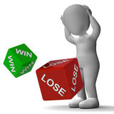 Win Lose Dice Showing Gambling Royalty Free Stock Photo