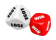 Win lose dices Royalty Free Stock Photography