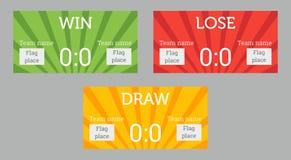 Win, lose, draw patterns Stock Photo