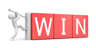 Win metaphor. Success concept. Separated on white Royalty Free Stock Images
