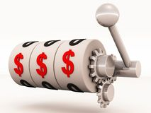 Win money slot machine Stock Images