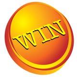 Win op gouden 3d ontwerp Royalty-vrije Stock Fotografie