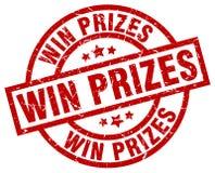 Win prizes round red stamp. Win prizes round red grunge stamp Stock Photo