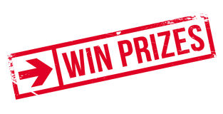Win prizes stamp Stock Image