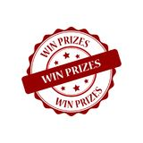 Win prizes stamp illustration. Win prizes red stamp seal illustration design Royalty Free Stock Photography