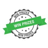 Win prizes stamp illustration. Win prizes stamp seal illustration design Royalty Free Stock Photography