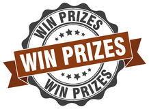 Win prizes stamp Stock Photography