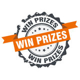 Win prizes stamp. Sign,seal,logo isolated on white background Stock Photo