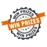Win prizes stamp Stock Photo