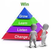 Win Pyramid Means Competition Record Or Goal. Win Pyramid Meaning Competition Record Or Goal Stock Photos