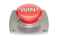 Win red button, 3D rendering Royalty Free Stock Image
