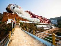 Win Sein Taw Ya Reclining Buddha Statue, Mawlamyine, Myanmar Royalty Free Stock Images