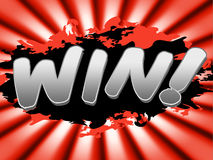 Win Sign Means Victorious Advertisement And Winning Royalty Free Stock Image