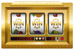 Win Slot Machine Gold Royalty Free Stock Photography