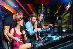 Win on slot machine Royalty Free Stock Photography