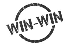 Win-win stamp. Win-win round grunge stamp. win-win sign. win-win royalty free illustration
