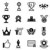 Win and success icons Royalty Free Stock Photography
