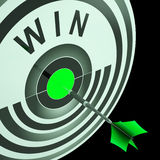 Win Target Means Triumphant Champion Success Stock Photo