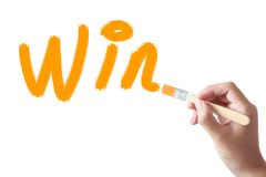 Win text royalty free stock photo