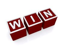 Word win in red and white Royalty Free Stock Images