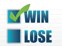 Win vs lose with checkmark illustration Royalty Free Stock Photos