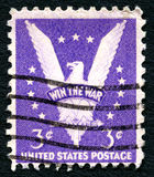 Win the War US Postage Stamp Royalty Free Stock Image