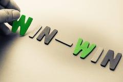 Win-Win royalty-vrije stock fotografie