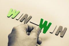 Win-Win stock afbeelding