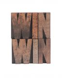 Win win. The words 'win win' in old ink-stained wood type stock photo